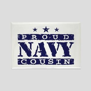Proud Navy Cousin Rectangle Magnet