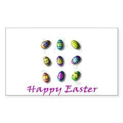 Happy Easter Rectangle Decal