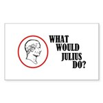 What Would Julius Do? Sticker (Rectangle 10 pk)