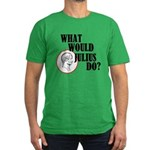 What Would Julius Do? Men's Fitted T-Shirt (dark)