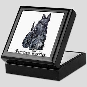 Scottish Terrier Portrait Keepsake Box