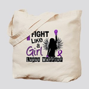 Licensed Fight Like a Girl 26.2 Lupus Tote Bag