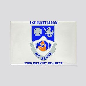 DUI - 1st Bn - 23rd Infantry Regt with Text Rectan