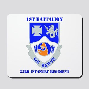 DUI - 1st Bn - 23rd Infantry Regt with Text Mousep