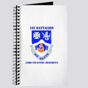 DUI - 1st Bn - 23rd Infantry Regt with Text Journa