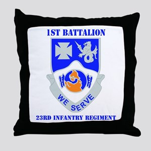 DUI - 1st Bn - 23rd Infantry Regt with Text Throw