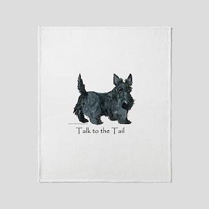 Scottish Terrier Attitude Throw Blanket