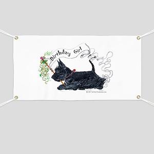 Scottie Girl Birthday Banner