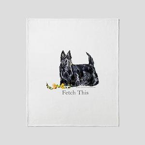 Scottish Terrier Holiday Dog Throw Blanket