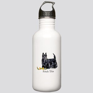 Scottish Terrier Holiday Dog Stainless Water Bottl
