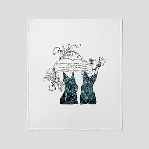 Scottish Terrier Proverb Throw Blanket