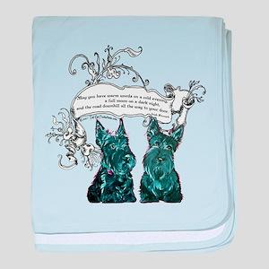 Scottish Terrier Proverb baby blanket