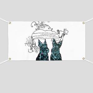 Scottish Terrier Proverb Banner