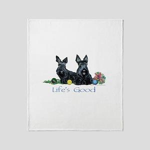 Life is Good - Scotties Throw Blanket