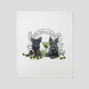 Scottish Terrier Double Throw Blanket