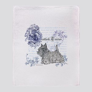 Scottish Terrier Graphic Throw Blanket