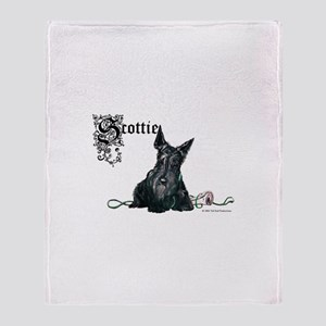 Celtic Scottish Terrier Throw Blanket