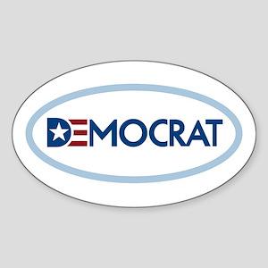 Democrat Sticker (Oval)