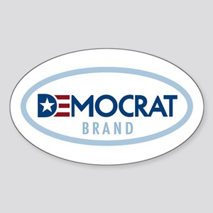 Democrat Brand Sticker (Oval)