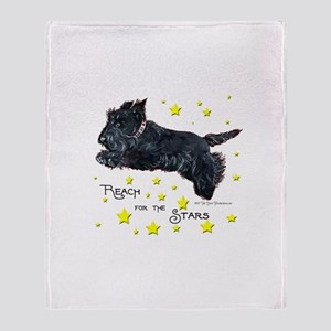 Scottish Terrier Star Throw Blanket