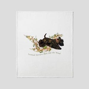 Scottish Terriers run like th Throw Blanket
