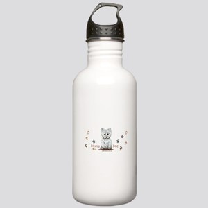Westie Dirty Dog Terrier Stainless Water Bottle 1.