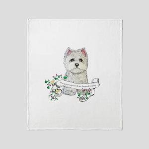 Loyal Westhighland Terrier Throw Blanket