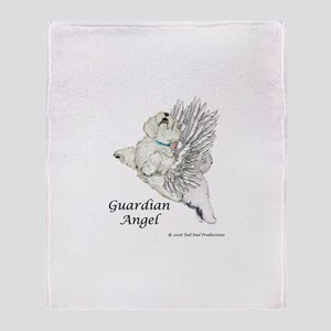 Guardian Angel Westie Throw Blanket