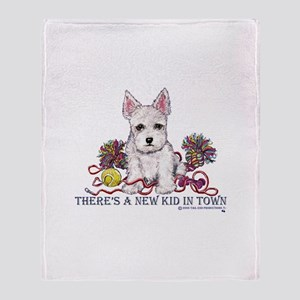 New Kid Westie Puppy Throw Blanket