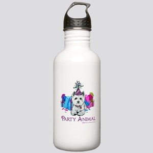 Westie Party Celebration Stainless Water Bottle 1.