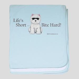 Life's Short Westie baby blanket