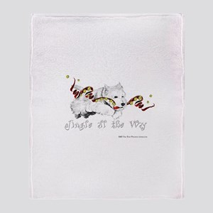 Westhighland Terrier Holiday Throw Blanket