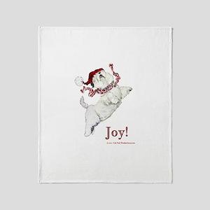 Westie Terrier Joy Throw Blanket