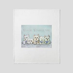 Westie Wonderland Throw Blanket