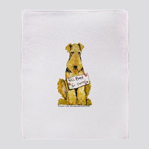 Airedale Welsh Lakeland Terri Throw Blanket
