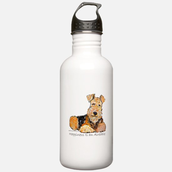 Airedale Happiness Water Bottle