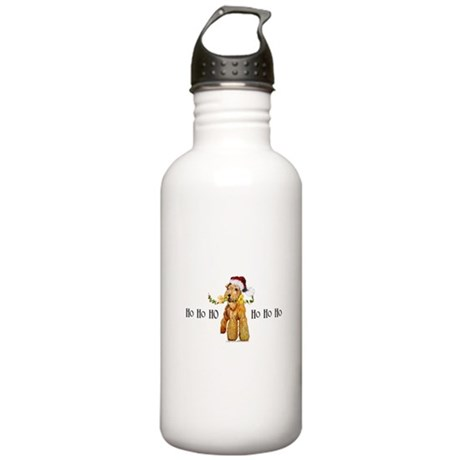 Santa Airedale Terrier Stainless Water Bottle 1.0L