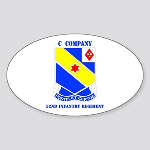 DUI - C Company - 52nd Infantry Regt with Text Sti
