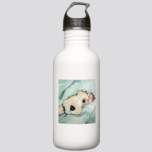 Napping Wire Fox Terrier Stainless Water Bottle 1.