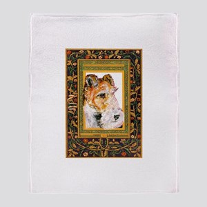 Vintage Fox Terrier Throw Blanket