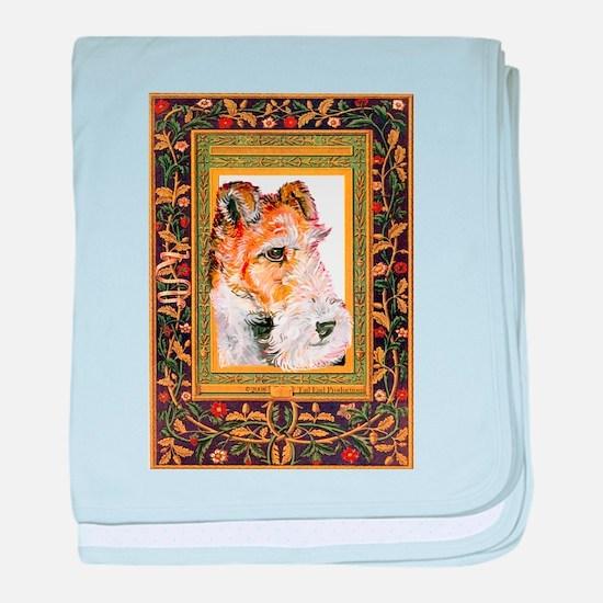 Vintage Fox Terrier baby blanket