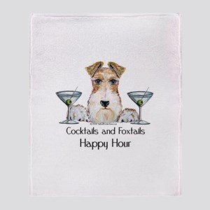 Wire Fox Terrier Happy Hour Throw Blanket