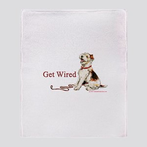Wire Fox Terrier Dog Walk Throw Blanket