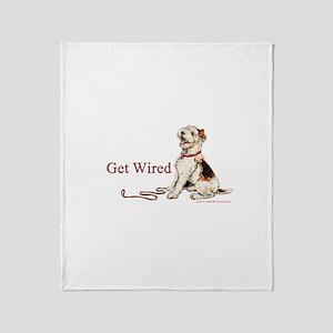 Wire Fox Terrier Dog Walk Throw Blanket