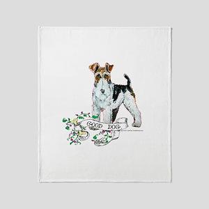 Fox Terrier Good Dog Throw Blanket