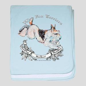 Fox Terriers Outlast! baby blanket