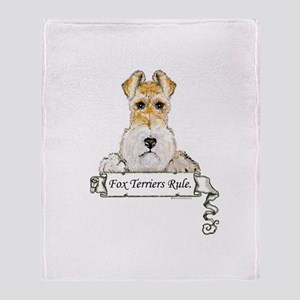 Fox Terriers Rule Throw Blanket