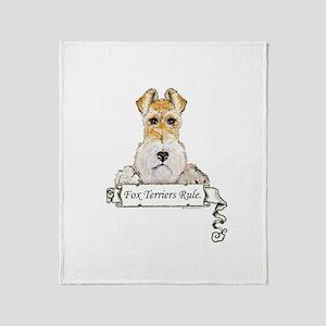 Fox Terriers Rule Throw Blanket