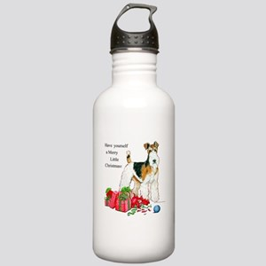 Merry Little Fox Terrier Stainless Water Bottle 1.