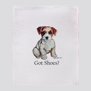 Jack Russell Shoes Throw Blanket